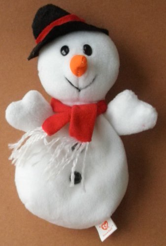 TY Beanie Babies Snowball the Snowman Plush Toy Stuffed Animal - 1