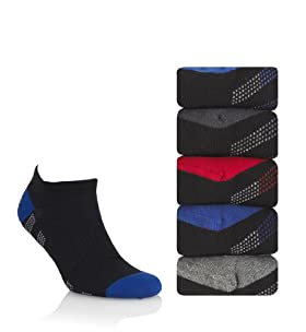 5 Pairs Of Cool & Fresh Cotton Rich Trainer Liner Socks With Silver Techonology