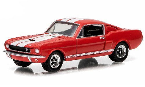 Shelby GT350, red/white, 1966, Model Car, Ready-made, Greenlight 1:64