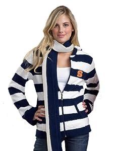 NCAA Syracuse Orange Kashwere U Rugby Striped Hoodie by Kashwere U