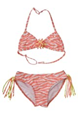 Kate Mack Girl's 7-16 Tahitian Sunset Bikini in Coral