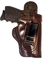 Ruger SR22 Heavy Duty Brown Right Hand Inside The Waistband Concealed Carry Gun Holster With Forward Cant and Slide Guard Bodyshield