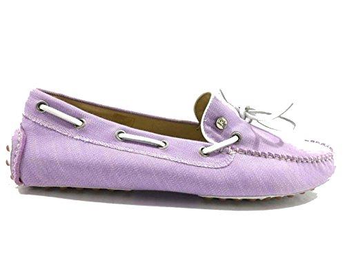 scarpe uomo ROY ROGERS 43 EU mocassini viola tessuto WH146