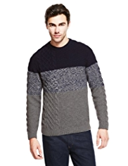 Pure Wool Cable Knit Jumper