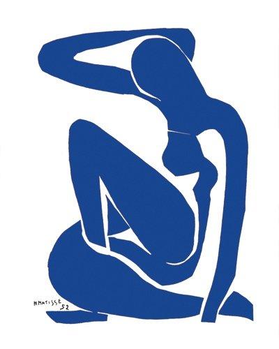 """Kunstdruck, Poster """"Nu bleu I"""""""