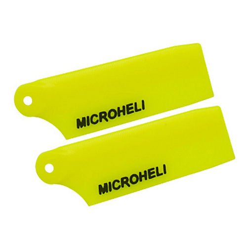 MicroHeli MH-130X030YL Plastic Tail Blade 29mm, Yellow: Blade 130 X