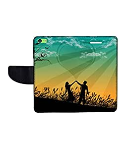 KolorEdge Printed Flip Cover For Apple IPhone 5C Multicolor - (43KeMLogo10204IPhone5C)