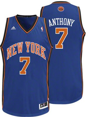 Carmelo Anthony New York Knicks Blue NBA Youth Swingman Jersey by adidas