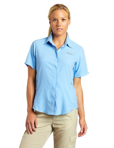 Columbia Women's Tamiami II Short Sleeve Fishing Shirt (White Cap, Large) (Woman Fishing compare prices)