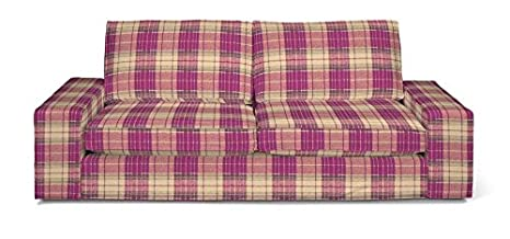 FRANC-TEXTIL 703-142-07 Kivik 3-Plazas Sofá funda, sofá Kivik 3-plazas, Mirella, rosa/beige