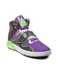 Womens adidas Roundhouse Athletic Shoes fashion sneakers purple/green/white
