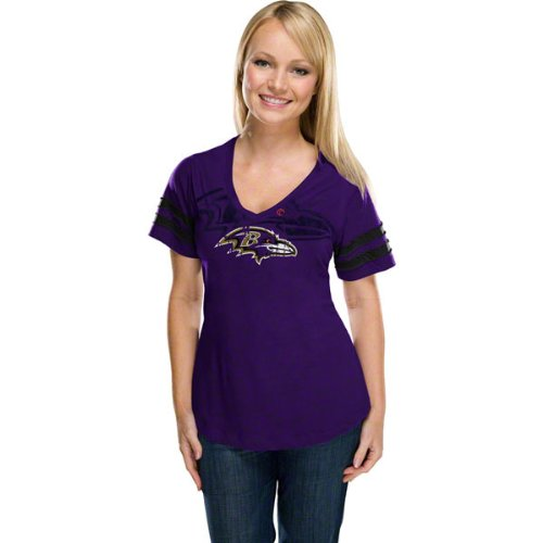 Baltimore Ravens Women's Dream Purple Short Sleeve Top