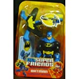DC Super Friends Batman Black on Blue Throwing Action [Toy]