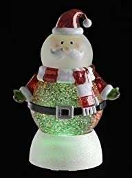 7.5″ LED Lighted Color Changing Santa Claus Christmas Snow Globe Glitterdome