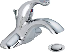 Delta Commercial 520LF-HDFWW Classic Single Handle Centerset Lavatory Faucet, Chrome