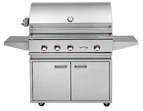 """Delta Heat 38"""" Propane (Lp) Gas Grill With Infrared Rotisserie On Double Door Cabinet"""
