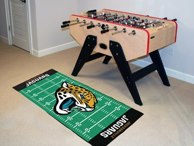 "Fanmats Home Indoor sports Team Logo Jacksonville Jaguars Runner Mat 30""x72"""