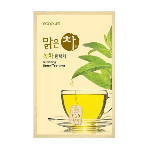 ビューティクレジット エコピュア リフレッシング 緑茶 ティータイム シートマスク