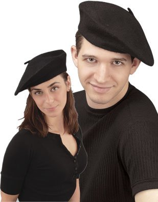 Huge save oncostumes ideas New Men s Women s Black French Beret Artist  Costume Hat db72053fc1d