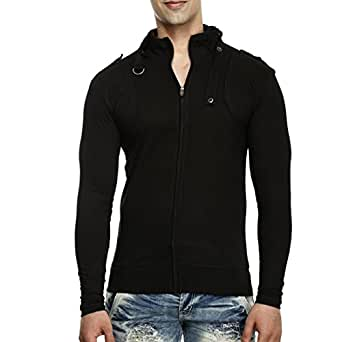 Tees collection men 39 s full zip buckle neck full sleeve for Mens full sleeve t shirts online