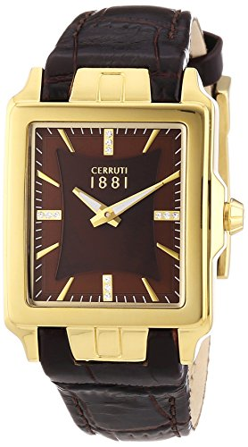 Cerruti Ladies Watch ODISSEA CRC014H222A Analogue Display and Gold Leather