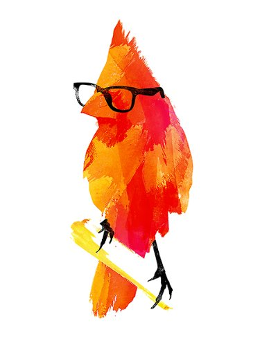 Punk Uccelli di Robert Farkas Art Print Poster