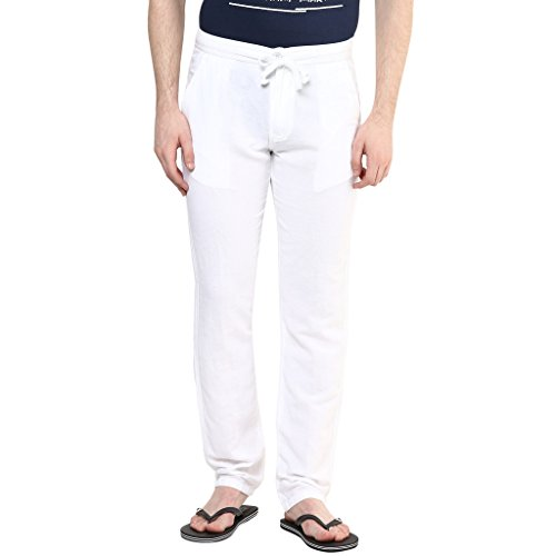 Wear-Your-Mind-White-Solid-Cotton-Pyjamas-For-Men-WPY0143