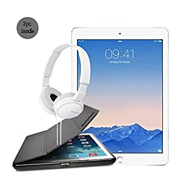 Apple Ipad Air 2 Silver 64gb Bundle with Case for Ipad Air 2 and Sony Headphone