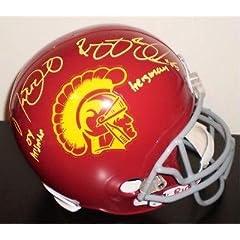 Reggie Bush & Matt Leinart Dual Signed Usc Trojans F s Helmet W  Heisman Nsc -...