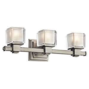 Amazon.com: Kichler Lighting 45143NI 3 Light Rocklin Bathroom