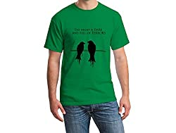 Teeforme Night is Dark T-shirt Green