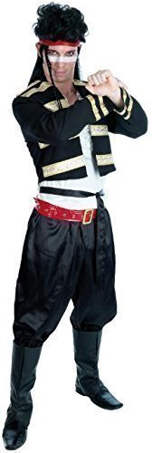 5 Piece 1980s Adam Ant New Romantics Pop Star Fancy Dress Outfit. Standard or XL