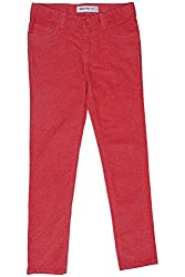 Poppers by Pantaloons Girl's Regular Fit Trouser(205000005621883, Red, 9-10 Years)