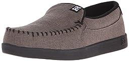 DC Men\'s Villain TX Slip-On Shoe, Grey/Black/Black, 11 M US