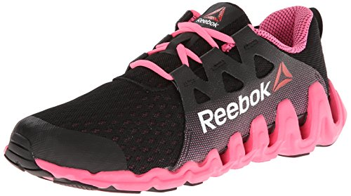 Reebok Women's Zigtech Big And Fast Running Shoe,Black/Electro Pink/White,9 M US