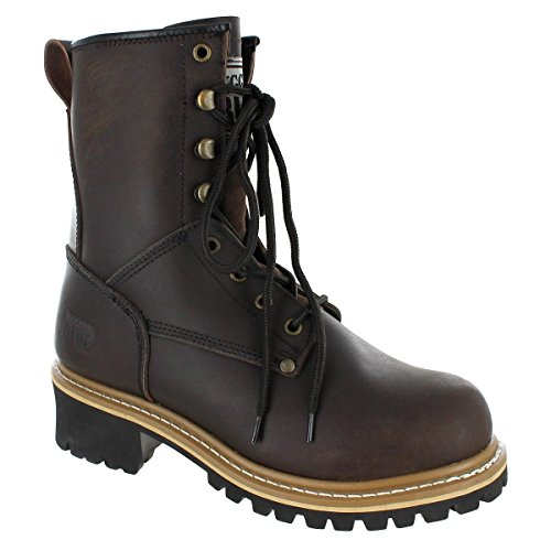 Rugged Blue Pioneer II Logger Boot