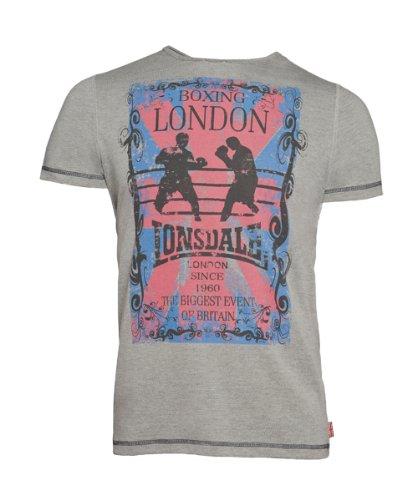 Lonsdale - T-Shirt Trägerhemd Huddersfield, Maglia a maniche lunghe Uomo, Grigio (Steingrau), Small (Taglia Produttore: Small)
