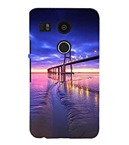 SUSPENSION SEA LINK AT SUNSET 3D Hard Polycarbonate Designer Back Case Cover for LG Google Nexus 5X :: LG Google Nexus 5X (2nd Gen) :: Google Nexus 5X :: Nexus 5X (2015)