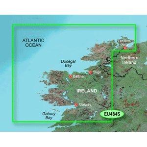GARMIN BLUECHART G2 HXEU484S IRELAND NORTH - WEST MICROSD