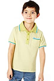 Pure Cotton Fine Striped Polo Shirt