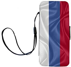 Rikki Knight Russia Flag Flip Wallet iPhoneCase with Magnetic Flap for iPhone 5/5s - Russia Flag