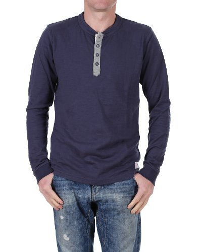 Jack and Jones Vintage Number 7-8-9 13 Ttt Ls Tee a maniche lunghe T-Shirt - Mood Indigo