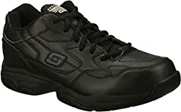 Skechers for Work Felton Lace-Up, Black, 10.5 XW US