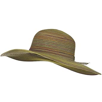 Vivian Ladies Sewn Braid Toyo Hat - Yellow