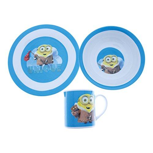 Minions - colazione Set di piatti + ciotola + tazza Bob con orso blu