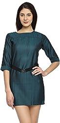 Texco Garments Women's A-Line Dress (29, Green, S)