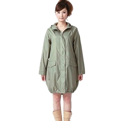 Cirkleoutdoor Rain Wear Hooded Waterproof Raincoat Breathable Rain Jacket Rain Slicker (green)