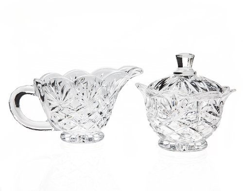 Godinger Silver Pineapple Crystal Sugar & Creamer Set