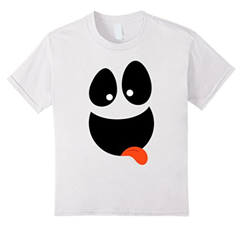 [Kids Funny Ghost Face T-Shirt | Quick Halloween Costume 4 White] (Make A Last Minute Halloween Costume)