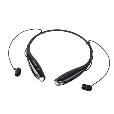 Universal Hv-800 Wireless Music A2dp Stereo Bluetooth Headset Neckband Style Headset Earphone Headphone & Enabled Bluetooth (Black)